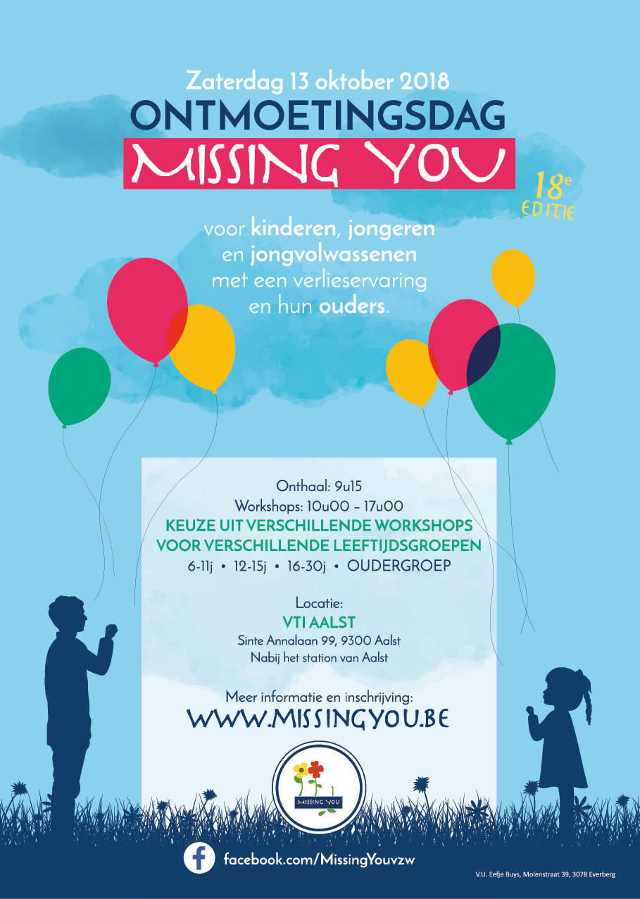 Missing You vzw Ontmoetingsdag 2018 Affiche Poster